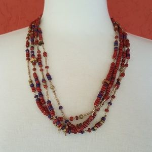 Jewelry - Four strand boho necklace